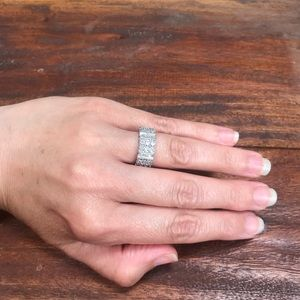 Jewelry - Diamond and Sterling Silver Band Ring